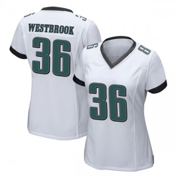 Women's Philadelphia Eagles Brian Westbrook White Game Jersey By Nike