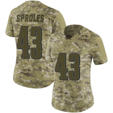 Women's Philadelphia Eagles Darren Sproles Camo Limited 2018 Salute to Service Jersey By Nike