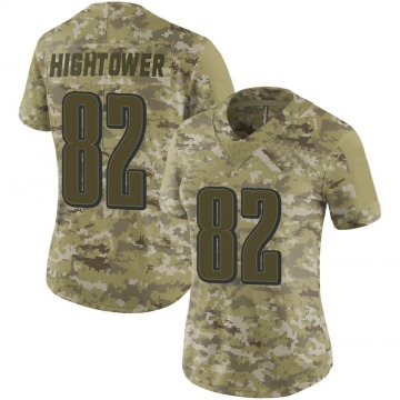 Women's Philadelphia Eagles John Hightower Camo Limited 2018 Salute to Service Jersey By Nike