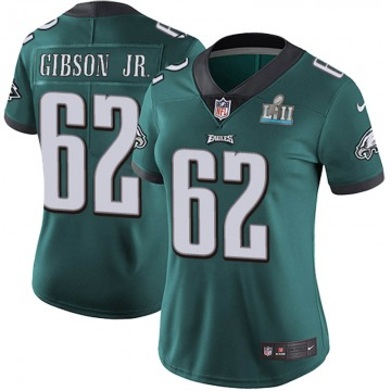 Women's Philadelphia Eagles Johnny Gibson Jr. Green Limited Midnight Team Color Super Bowl LII Vapor Untouchable Jersey By Nike