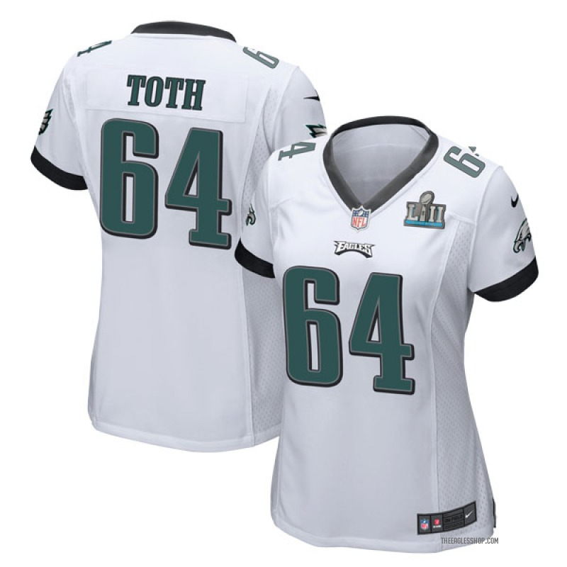 on sale 80c80 5fc66 Women's Philadelphia Eagles Jon Toth White Game Super Bowl LII Jersey By  Nike