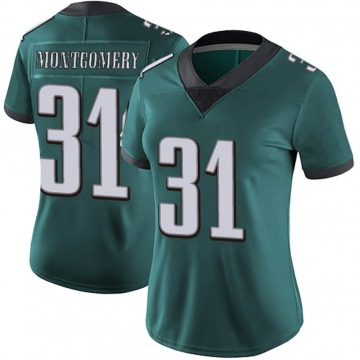Women's Philadelphia Eagles Wilbert Montgomery Green Limited Midnight Team Color Vapor Untouchable Jersey By Nike