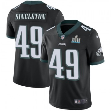 Youth Philadelphia Eagles Alex Singleton Black Limited Alternate Super Bowl LII Vapor Untouchable Jersey By Nike