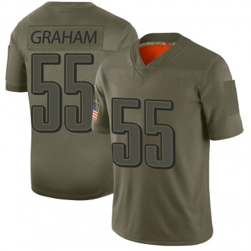 Youth Philadelphia Eagles Brandon Graham Camo Limited 2019 Salute to Service Jersey By Nike