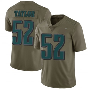 Youth Philadelphia Eagles Davion Taylor Green Limited 2017 Salute to Service Jersey By Nike