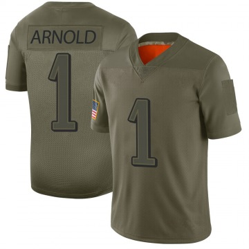 Youth Philadelphia Eagles Grayland Arnold Camo Limited 2019 Salute to Service Jersey By Nike
