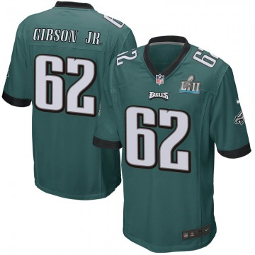Youth Philadelphia Eagles Johnny Gibson Jr. Green Game Team Color Super Bowl LII Jersey By Nike