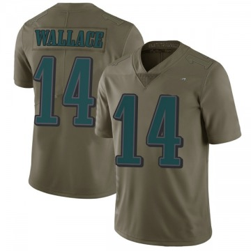Youth Philadelphia Eagles Mike Wallace Green Limited 2017 Salute to Service Jersey By Nike